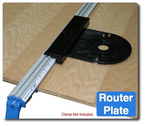 XRP 8-Inch by 9-Inch Router Plate, Black ()