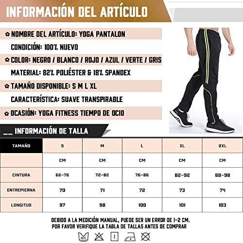 FITTOO Pantalones Deportivos para Hombre Mallas de Fitness Elásticos y Transpirables 8