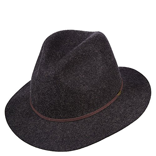 Four Seasons Hat (SCALA Men's Crushable and Packable Safari Hat with Raw Edge Charcoal Hat XL)
