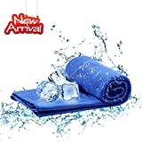Instant Cooling Towels for Neck, Instant Chilling Cool Towels for Neck Ice Towels Wrap, Instant Relief for Cold & Hot Therapy Towels Backpacking Workout Camping Fitness Gym Yoga Towel