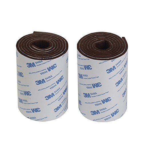 Shintop Felt Tape Adhesive Heavy Duty Felt Strip Roll Cut into Any Shape to Protect Your Hardwood and Laminate Flooring Brown