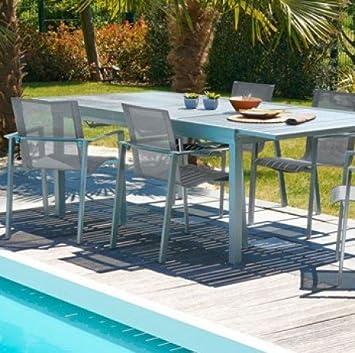 DCB Table Orlando avec rallonge Automatique, en Aluminium - 6 ...