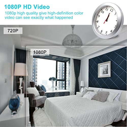 AMCSXH HD 1080P WiFi Hidden Camera Wall Clock Spy Camera with Motion Detection, Security for Home and Office, Nanny Cam/Pet Cam/Wall Clock Cam, Remote-Real Time Video, Support iOS/Android, Video only by AMCSXH (Image #1)