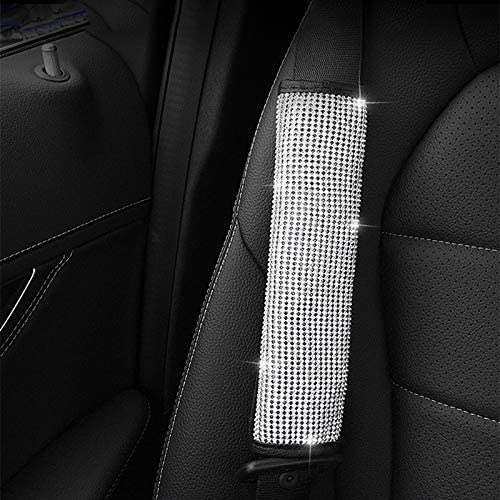 Copertura per cintura di sicurezza e freno a mano e pomello del cambio con brillantini accessori decorativi per auto Adanse 4 pezzi in 1 set