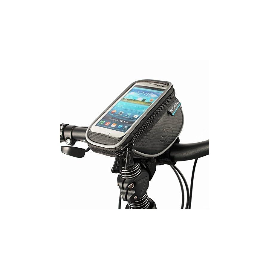 COTEetCI Bicycle Mountain Road MTB Bike Front Frame Tube Handlebar Bag Cycling Basket for Cellphone Phone