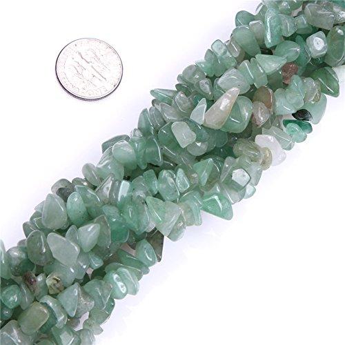 Joe Foreman 6-8mm Green Aventurine Beads Natural Stone Gravel Gemstone Chips Beads For Jewelry Making Wholesale Loose Beads Freeform Green 34