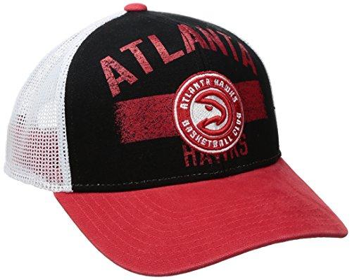 fan products of NBA Atlanta Hawks Men's Downtown Trucker Meshback Hat, Black, One Size