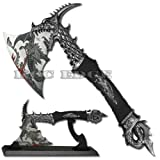 "Brand New 14.5"" Fantasy Dragon Axe Knife Sword Dagger w/ Stand Home Decor Xmas"