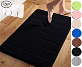Kyпить Yimobra Memory Foam Bath Mat Large Size 31.5 by 19.8 Inch,Maximum Absorbent,Soft,Comfortable,Non-Slip,Easier to Dry for Bathroom,Black (Presented Wall Hooks 3 Pack) на Amazon.com