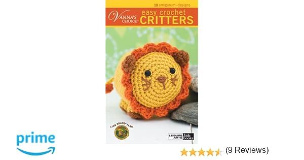 Vannas Choice Easy Crochet Critters Leisure Arts 75266 Lion
