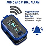 Dr. Trust (Usa) Signature Series Fingertip Pulse Oximeter With Audio Visual Alarm Water Resistant ( Royal Blue )