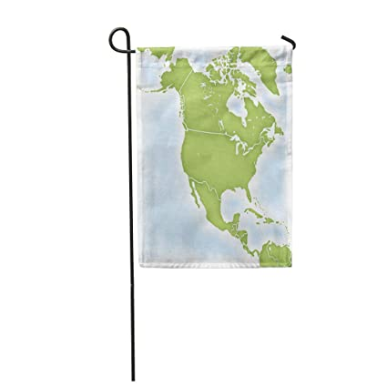 Map Of North America After Planet X.Amazon Com Semtomn 28 X 40 Garden Flag America Map Of North