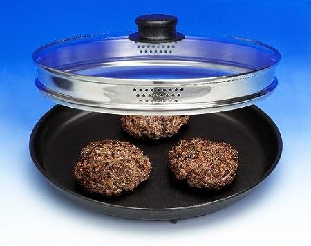 Amazon.com: Browning de microondas Plato con tapa. Preparar ...