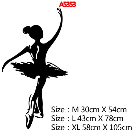 GJQFJBS Hermosa bailarina de ballet pegatinas de pared decoración ...