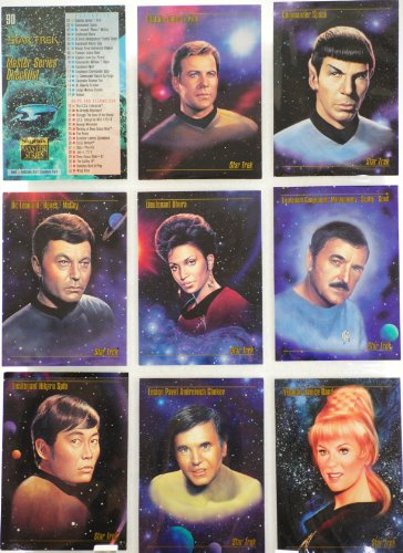 1993 - Paramount / Skybox Master Series - Set of 90 Collector Cards - Star Trek / Portraits / Ships / Spacescapes - Mint - Out of Production - Limited Edition - Collectible