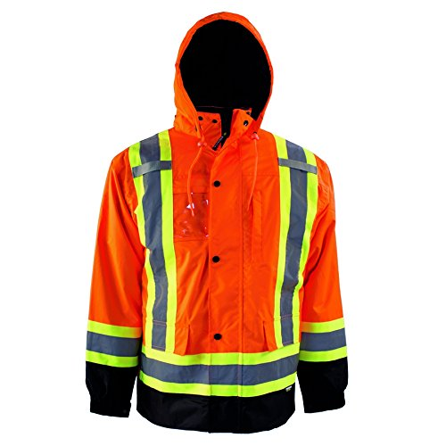 (Terra 11-6501-ORXL High-Visibility 7-In-1 Reflective Safety Jacket, Orange, X-Large)