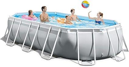 ZDYLM-Y Piscina Desmontable Tubular con Bomba de Filtro, paño, Cubierta de Piscina, Escalera mecánica, Gris: Amazon.es: Deportes y aire libre
