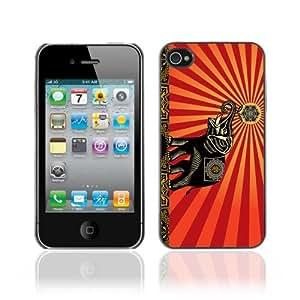 Designer Depo Hard Protection Case for Apple iPhone 4 4S / Beautiful Hindu Elephant Art