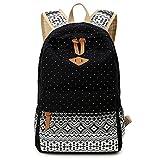HITOP Fashion Vintage Women Girl Backpack Canvas Geometry Puntino School University Bag Travel Bag