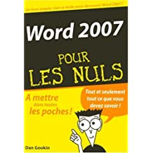 Word 2007 pour les nuls
