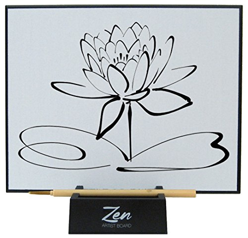 Zen Artist Board, Paint with Water Relaxation Meditation Art, Relieve Stress, Large Magic Painting Board Drawing with Watercolor, Bamboo Brush -