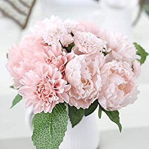 DHD Wedding Bride Hand Bouquet Rosemary Peony Flower Bouquet Vivifying Flower Home Furnishing And Decorative Flower 2