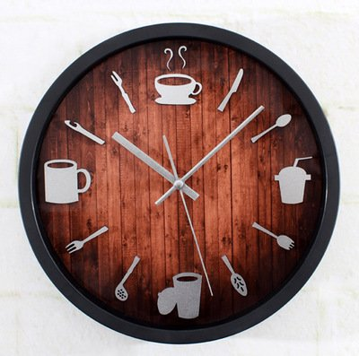 La Moda creativa de pared Reloj de pared cuberterías Relojes de pared Silenciar