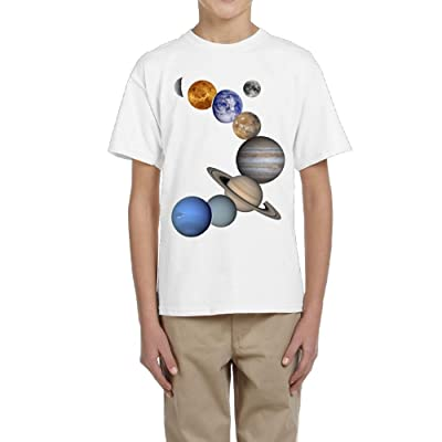Fzjy Wnx Solar System 1 Youth Crew Short-Sleeved of T-Shirts for Boys