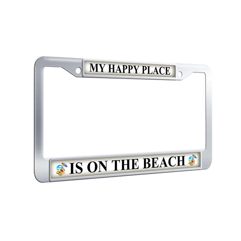 2X Laser Style GT Stainless Steel Black License Plate Frame Rust Free