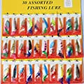 30x Assorted Feather SpinnerBaits Spoon Fishing Lures