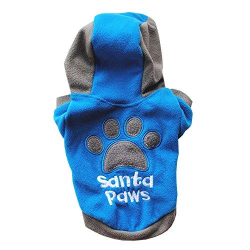 Cálido Casual para Abrigo Santd Ropa con azul Chihuahua Capucha Paws Fossrn Perro Chaqueta Sudadera Invierno Yorkshire Pequeño PI6y4qWzT