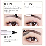 Eyebrow Tattoo Pen - MoonKong Tat Brow Microblading Eyebrow Pencil with a Micro-Fork Tip Applicator Creates Natural Looking Brows Effortlessly and Stays on All Day