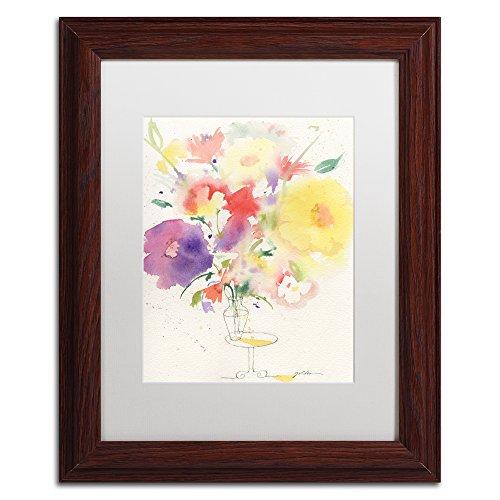 Trademark Fine Art Holiday Bouquet by Sheila Golden, White Matte, Wood Frame -