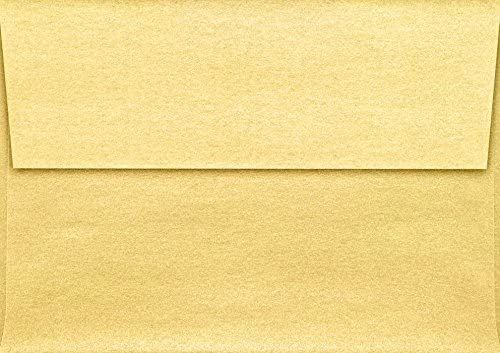 LUXPaper A1 Invitation Envelope in 80 lb Gold Metallic for 3 1//2 x 4 7//8 Cards Printable Envelopes for Invitations 50 Pack Envelope Size 3 5//8 x 5 1//8 Gold with Peel and Press