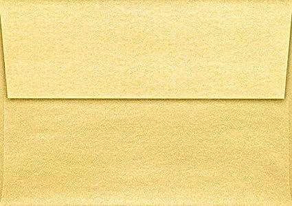 amazon com a1 invitation envelopes 3 5 8 x 5 1 8 gold metallic