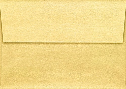 A1 Invitation Envelopes (3 5/8 x 5 1/8) - Gold Metallic - Pack of 50 ()