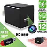 Spy Camera - Hidden Camera - Motion Detection - HD 1080P - USB Hidden Camera - Surveillance Camera - Mini spy Camera - Nanny Camera - Best Spy Camera Charger - Hidden Camera Charger - Improved 2019