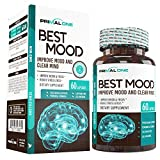 Best Mood Nootropic Mood Booster & Stress Relief Supplement for a Calm Mind, Clear Focus, Mental Clarity – Supports Dopamine & Serotonin w/KSM-66 Ashwagandha, Bacopa, L-Theanine – 60 Veggie Pills For Sale