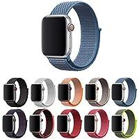 Pulseira Nylon Loop para Apple Watch 40mm e 38mm Series 1 2 3 4 5 - Marca Ltimports (Azul)