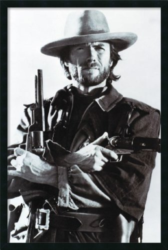 Clint Eastwood Framed Wall Art - 25.41W x 37.41H in., Black
