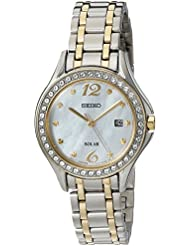 Seiko Womens Quartz Stainless Steel Casual Watch, Color:Two Tone (Model: SUT312)