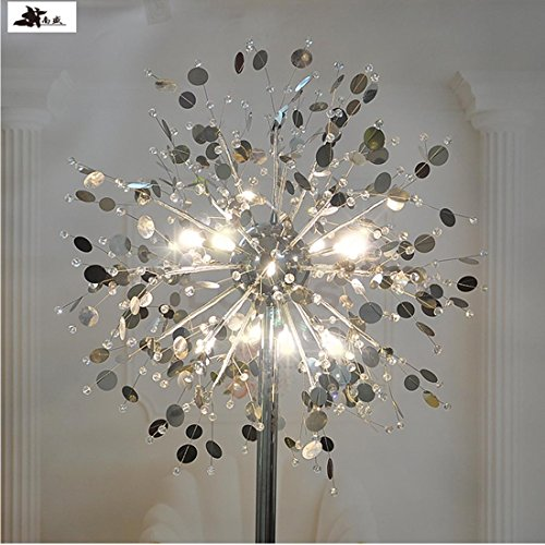 GDNS 24W Warm LED Imitate Crystal Floor Lamp,19.519.571 Inch LWH by GDNS (Image #3)