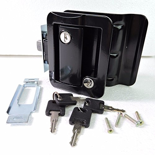Lava99 Black RV Entry Door Lock w / deadbolt Camper Travel Trailer NEW