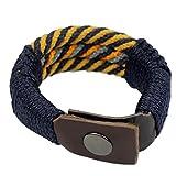 NOVICA Brass Plastic Men's Wristband Bracelet, 8.5'' 'Blue Abankaba'