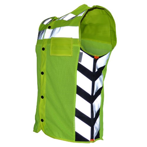 Harley Davidson Reflective Vest - Missing Link Meshed Up Expandable Safety Vest (HiViz Green/Orange, XX-Large)
