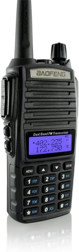 DOUBLESTAR Baofeng UV-82 Dual-Band 136-174 400-520 MHz FM Ham Two-Way Radio, Transceiver Black