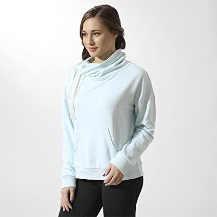 Amazon.com  Reebok Women s Elements Marble Cowl Neck Shirt  Sports ... 4f6885c82cd30