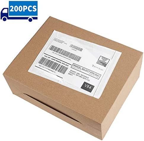 Metronic 7.5x5.5`` 200PCS Clear Self-Adhesive Packing List Envelopes for Invoice Shipping Label Mailing Bags
