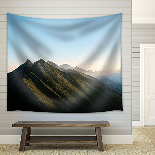 Landscape Mountains under Blue Sky Fabric Wall