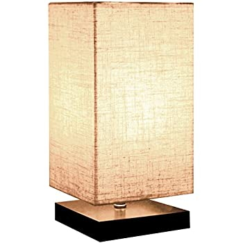 Minerva Minimalist Solid Wood Table Lamp Bedside Desk Lamps Nightstand Lamp  With Linen Fabric Shade For